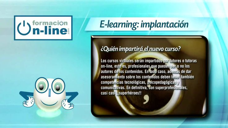 Video donde define la e-learning.