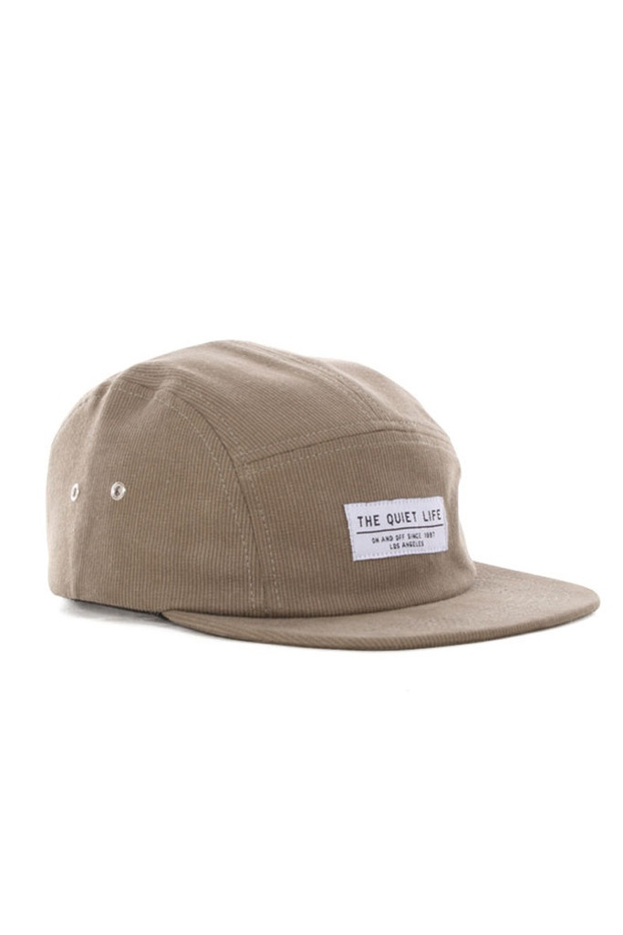 GOOD AS GOLD — Corduroy 5-Panel Hat, tan