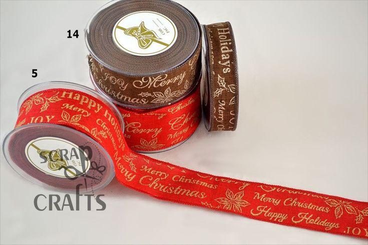 Χριστουγεννιάτικη+πολυεστερική+κορδέλα,+τυπωμένη+με+χριστουγεννιάτικες+ευχές+και+γκι+με+στρας.+Κατάλληλη+για...