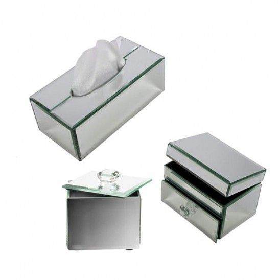 Glass mirrored box collection