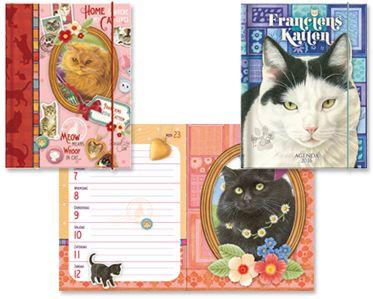 Agenda's en Kalenders 2016 Ieder jaar wordt er een brede lijn met agenda´s en kalenders van Franciens Katten gemaakt.