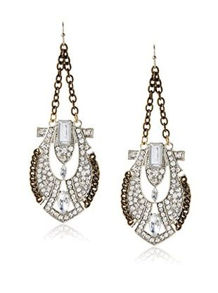 60% OFF Bijou Crystal and Stone Drop Earring