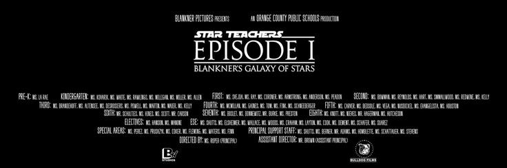 Star wars School Bulletin