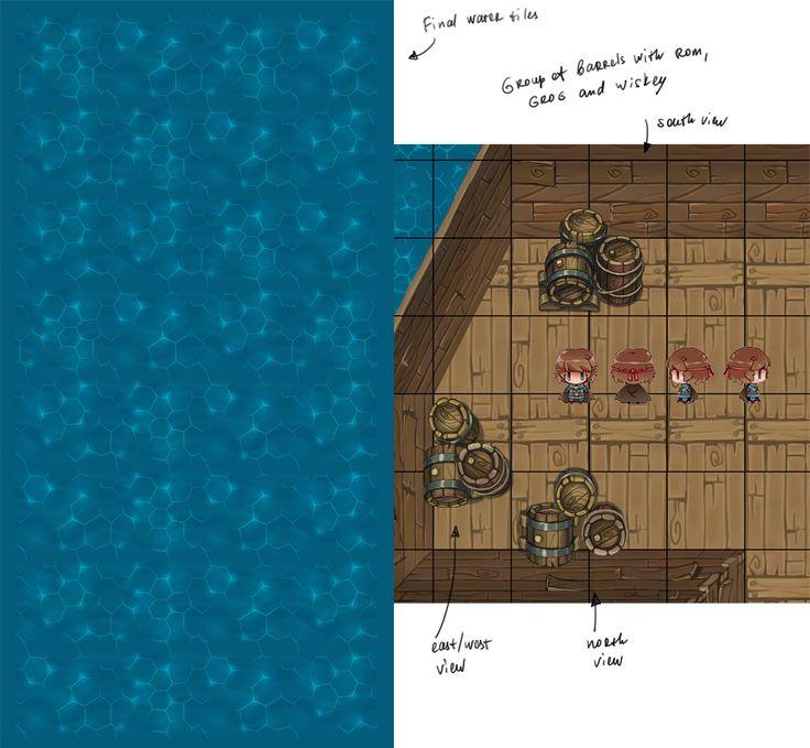 Shards of Eradine game | Ship location assets | DEVBLOG on Behance