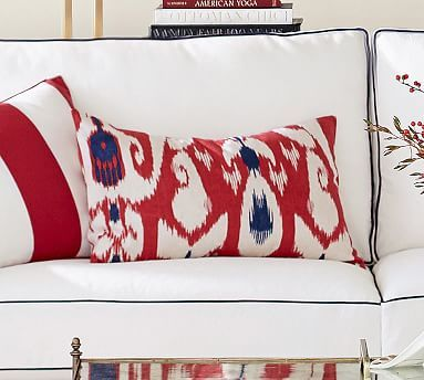 Yara Ikat Pillow Cover - Blue/Red #potterybarn