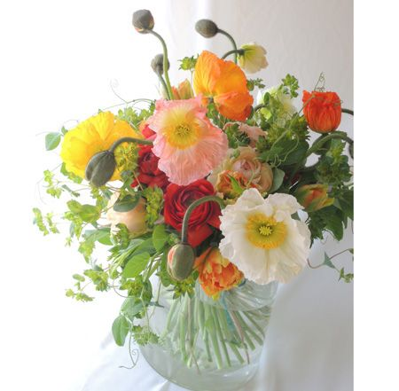 ≪春≫うきうき色のポピーの花束