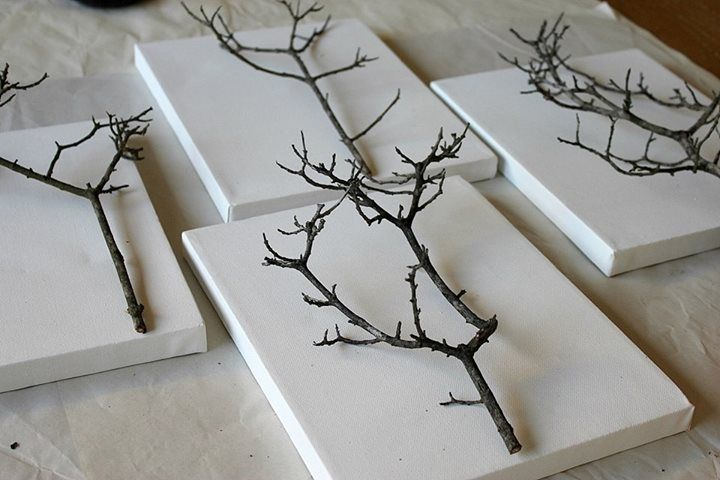 inspiration! branches on canvas!