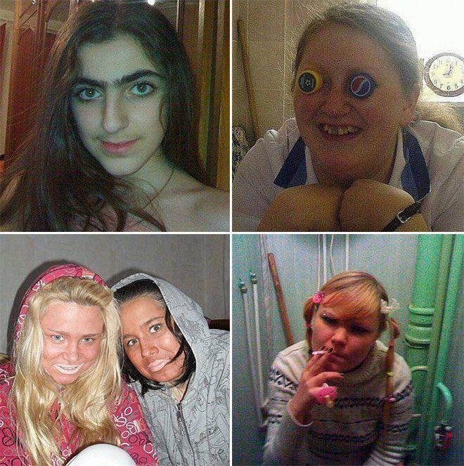 Най-ужасните профилни снимки в руските сайтове за