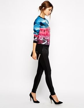 Ted Baker Leggings with Snake Effect Panels#Englishstyle#Evening#Sexy