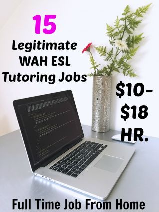 Are you looking for an online ESL tutoring job? Here's a list of 15 legitimate ESL Tutoring Jobs that pay $10-$18 an hour!
