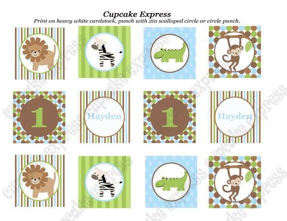 DIY el paquete de fiesta de cumpleaños por CupcakeExpress en Etsy