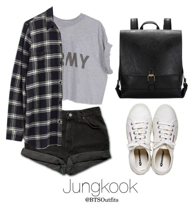 """Fair with Jungkook"" by btsoutfits ❤ liked on Polyvore featuring Levi's, Madewell and Henri Bendel"