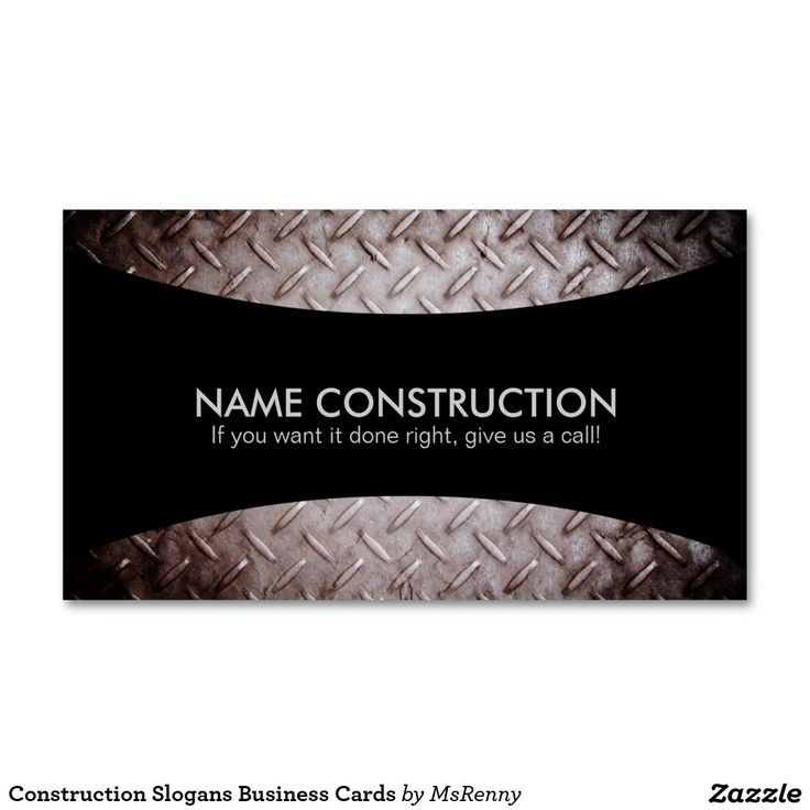 70 best business cards construction images on pinterest cartes construction slogans business cards reheart Gallery