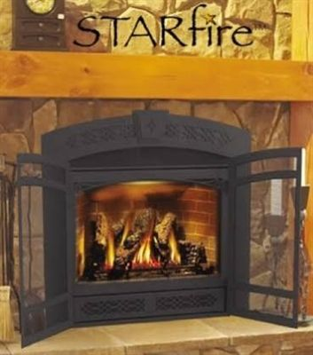 "Napoleon Starfire 38"" Zero Clearance Direct Vent Fireplace - GD70PT-1SE like curve of fireplace"