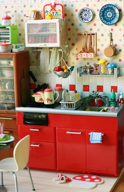 54 best Decoración  Cocina Roja images on Pinterest Red kitchen