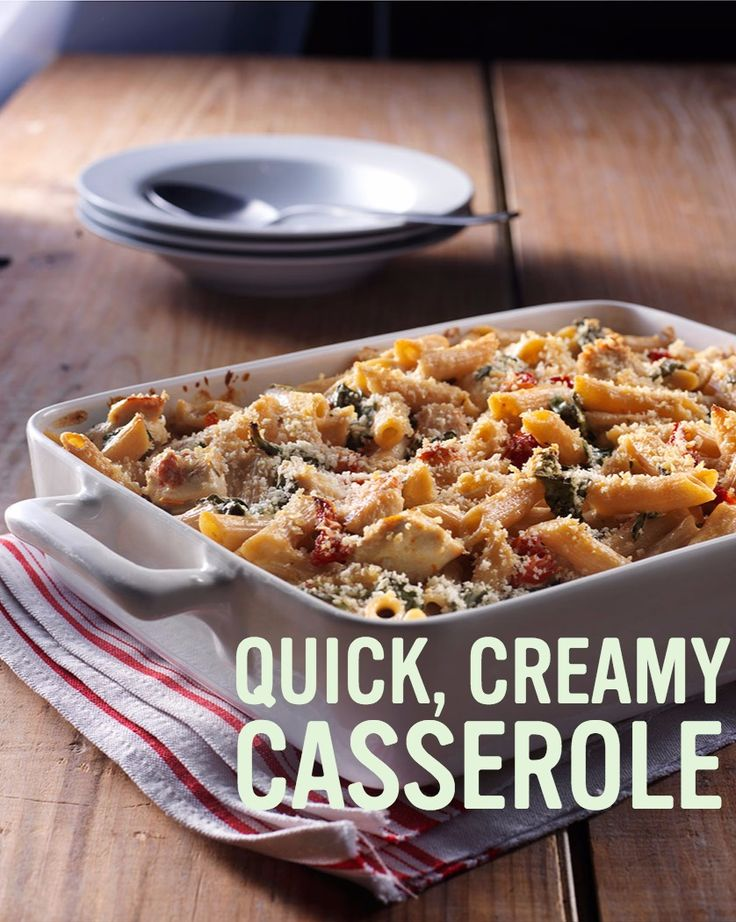 Chicken & Pasta Florentine Casserole | Recipe | Chicken ...