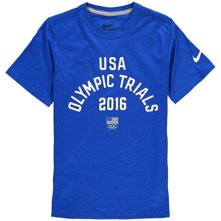 Team USA Nike Youth 2016 Olympic Trials T-Shirt - Royal - $18.04