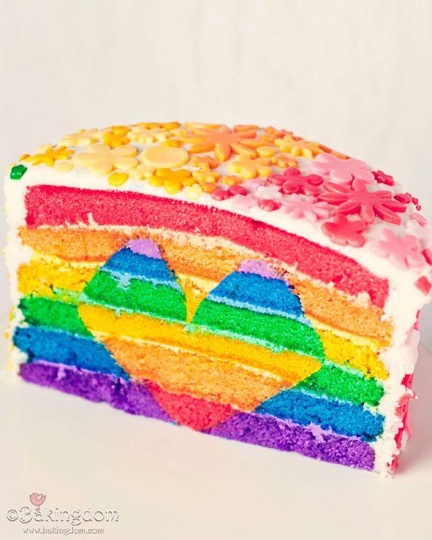 tarta corazón arcoiris tartas originales