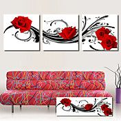 Stretched Canvas Art Floral Red Roses Dancing... – AUD $ 72.77
