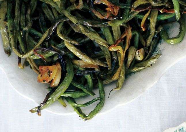Slow-Roasted Green Beans with Sage