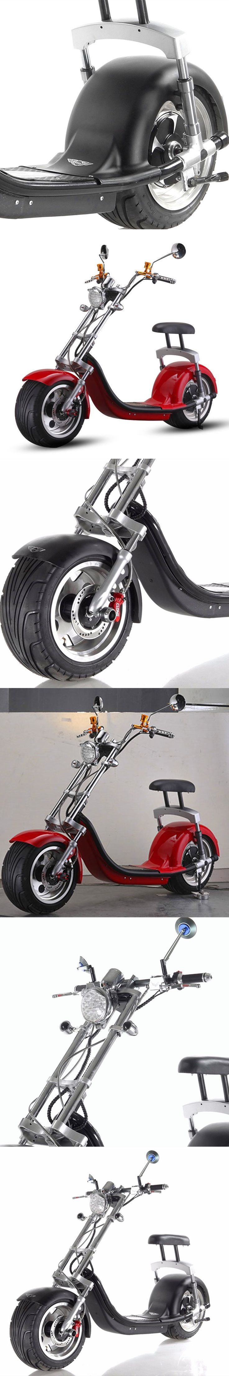 Door to door shipping 1200w 60V Harley chopper bike Electric Scooter City Coco