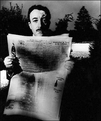 Peter Sellers reads.Peter O'Tool, 1963, Brandt Archives, Brandt Peter, Bill Brandt, Sellers Reading, Famous Reader, Famous Face, Peter Sellers
