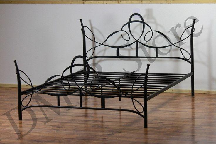 black iron bed frame