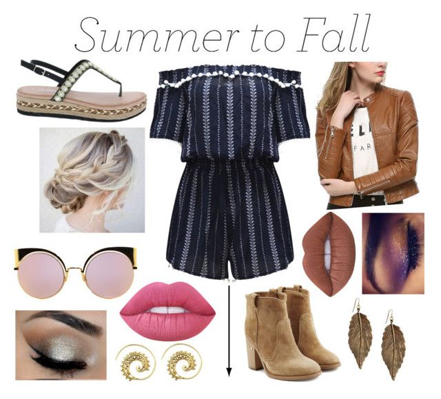 """Summer to Fall Fashion"" by gagirl42 ❤ liked on Polyvore featuring Lime Crime, Laurence Dacade, Forever 21, Fendi, WithChic and Via Pinky"