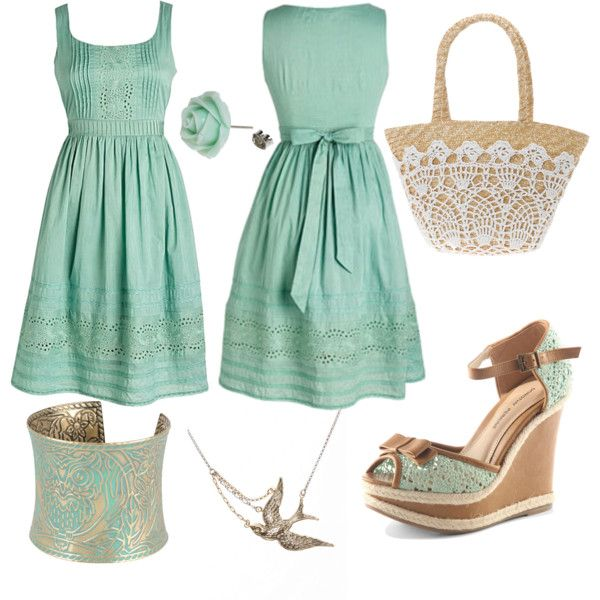 Very cute: Mint Green, Fashion, Style, Dream Closet, Color, Clothes, Dresses, Outfit, The Dress