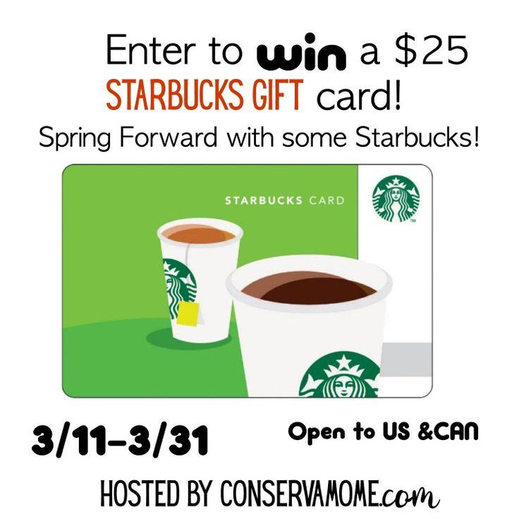 Enter to win a 25 Starbucks Gift card Starbucks gift