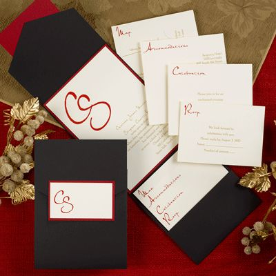 this irresistible pocket invitation delivers a complete package to your guests by adding enclosure cards