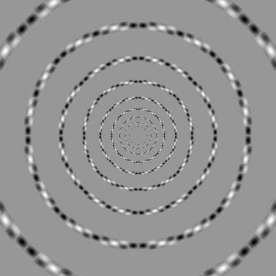 El espejo lúdico: Los círculos concéntricos de Kitaoka