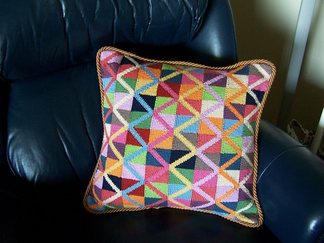 Jumping Jack Cushion by Kaffe Fassett [free pattern]