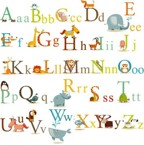 Animals Alphabet Baby Nursery Peel  Stick Wall Art Sticker Decals for Boys and Girls for only $10.99 You save: $3.00 (21%) + Free Shipping