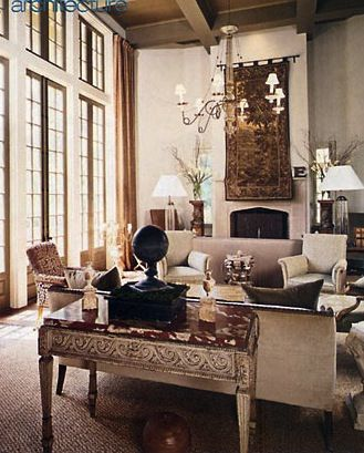Chic Living Room by mcalpine tankersley