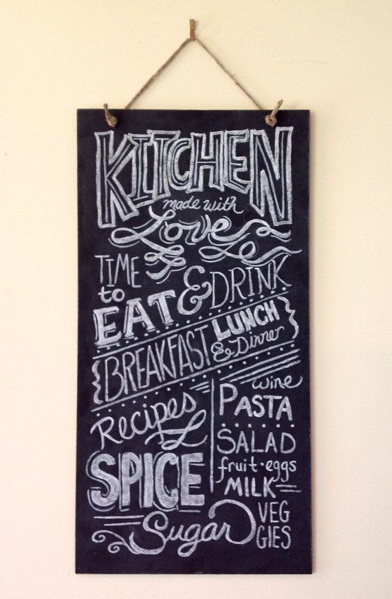 Hand Painted Kitchen Typography Chalkboard Art 10 x by LilyandVal, $89.00