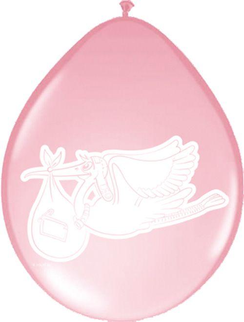 Billige lyserøde balloner til barnedåb og baby shower. Stort udvalg af billigt lyserøde festartikler.