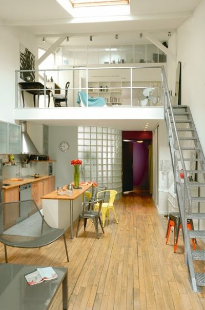 Oh I would love to love here!! Love the mezzanine! that would be my bedroom!