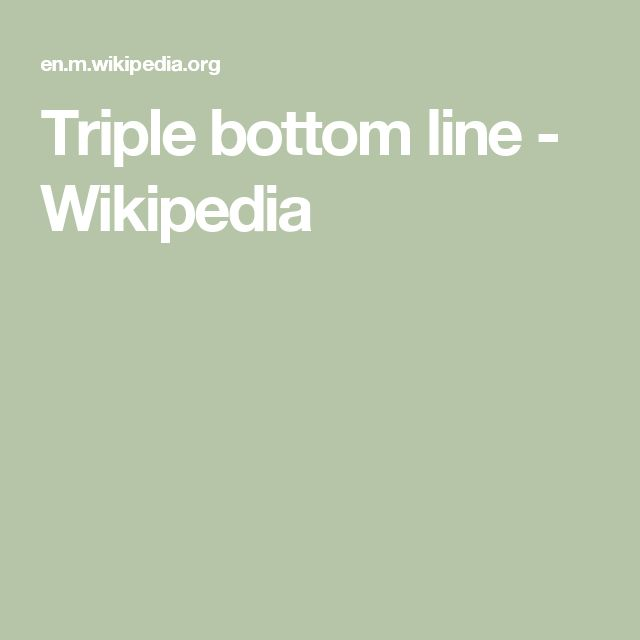 Triple bottom line - Wikipedia