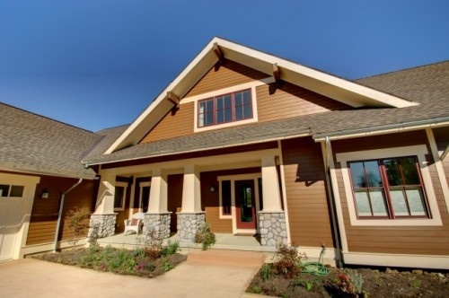 Craftsman style house in Brown: Photos, Ideas, Craftsman Exterior, Color, Craftsman Style, House, Craftsman Cottage, Design