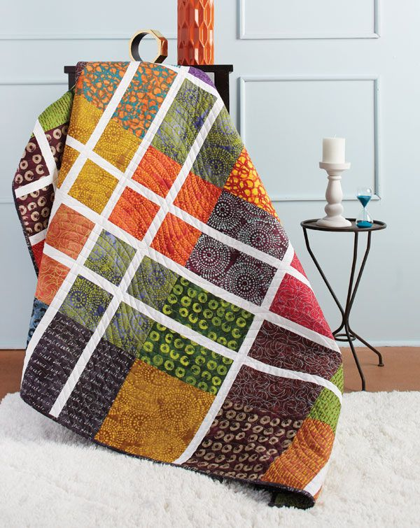 "Tony Jacobson says, ""This quilt is no shrinking violet!"" It's definitely bold, and he used a clever technique to make the blocks. Learn how to make All Inked Up in our free video tutorial."