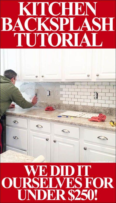 how to install a kitchen backsplash. beautiful ideas. Home Design Ideas