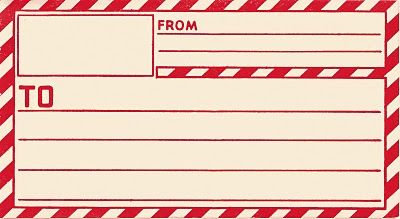 vintage clip art- parcel post label