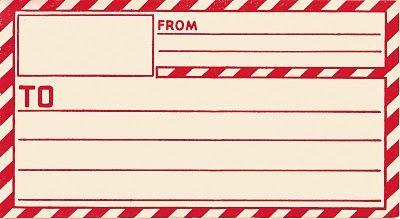vintage clip art- parcel post label