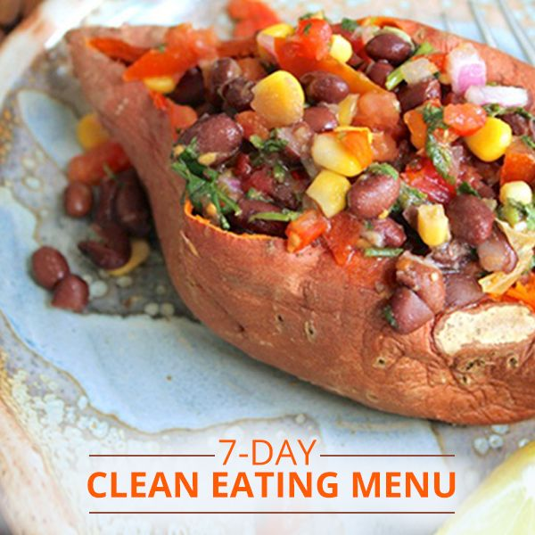 This is the week you start feeling better about your body with our 7-Day Jumpstart My Health Clean Eating Menu plan, with links for breakfast, lunch, and dinner.