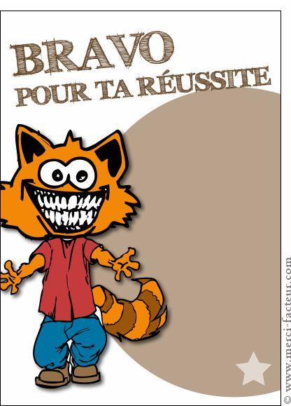 Carte Bravo pour ta r�ussite � tes examens pour envoyer par La Poste, sur Merci-Facteur !