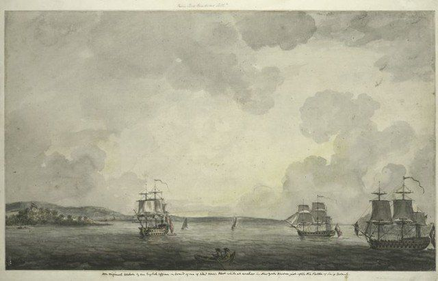 British ships in New York Harbor following the British takeover of New York City in 1776 (Image)