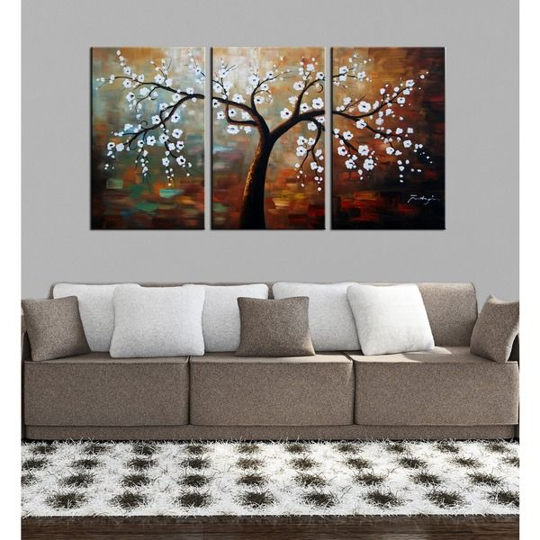 'The Giving Tree' Hand Painted Oil on Canvas Art Set