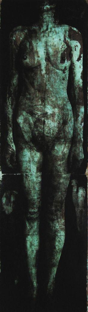 Nicola Samori, Senza titolo, 2005. Materiali: olio su acetato su rame.
