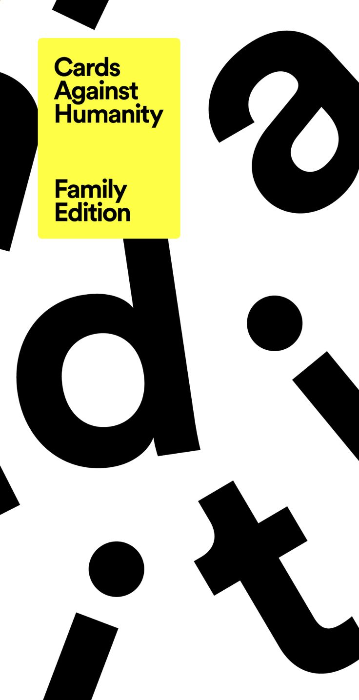 Cards against humanity family edition in 2020 cards